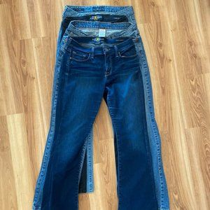 4 Pair Woman's Lucky Brand Jeans All Size 6/28